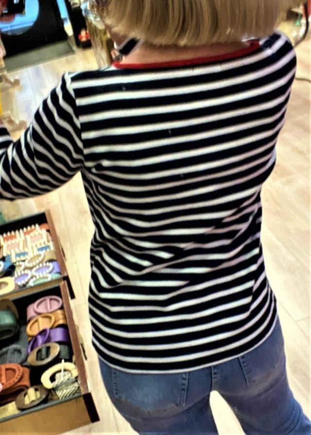 camiseta marinera anclas beige blue