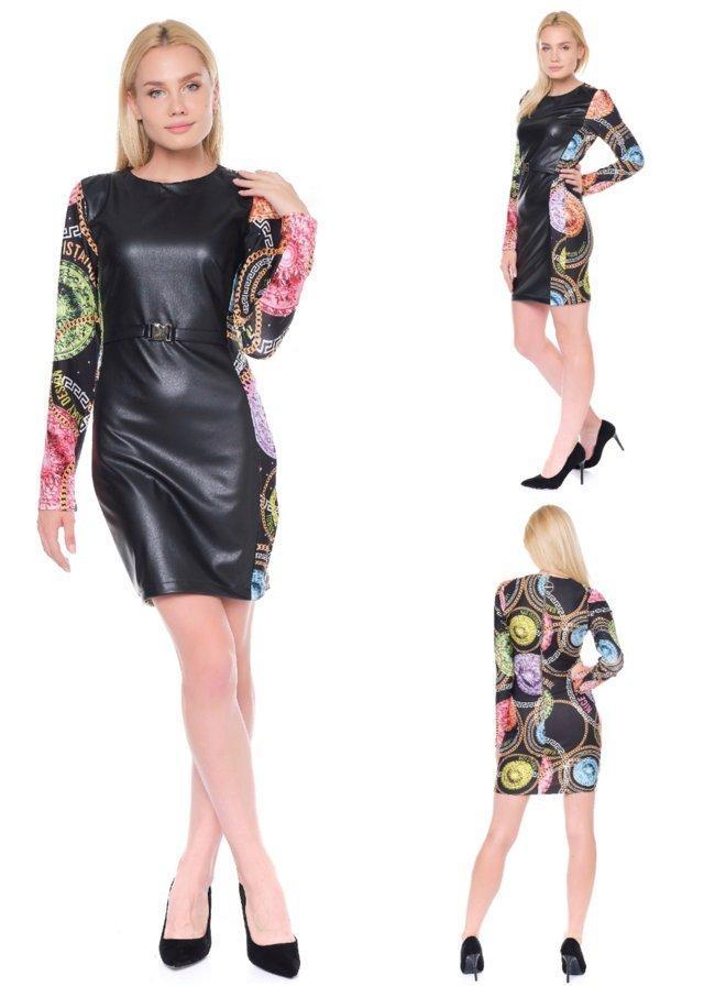 vestido licra y polipiel nice istanbul tosnac.com