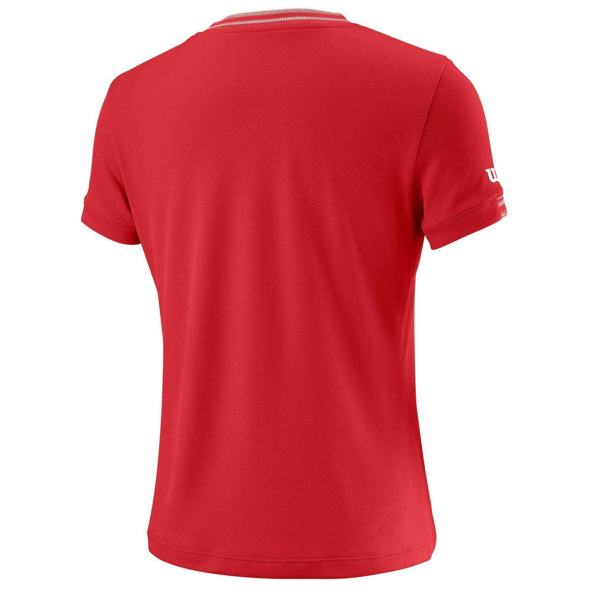 Camiseta Wilson Team Junior roja